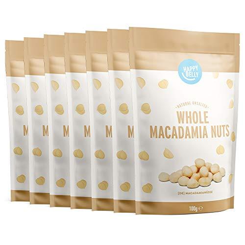 Marchio Amazon - Happy Belly Noci di macadamia intere, 7 x 100g