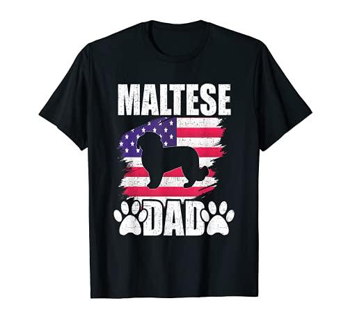 Amerikanische US-Flagge mit Malteser-Motiv T-Shirt