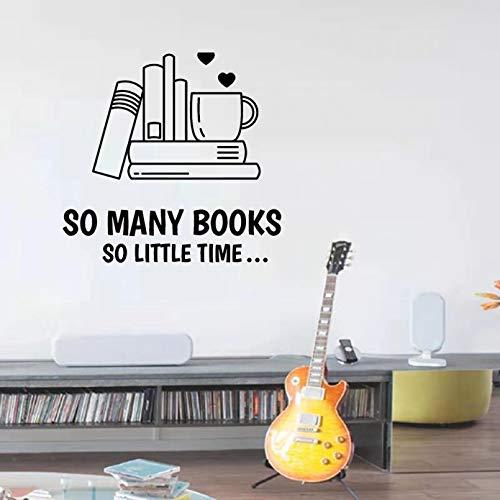 Calcomanía de vinilo para pared con cita, libros, amor, niños, sala de lectura, esquina, biblioteca, estudio, decoración del hogar, pegatinas para ventanas, librería, taza, Mural