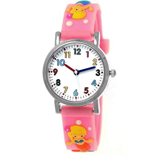 Pure Time® kinderhorloge meisjeshorloge voor kinderen meisjes silicone rubber armbandhorloge met zeemeermin zeester roze blauw geel groen rood bont