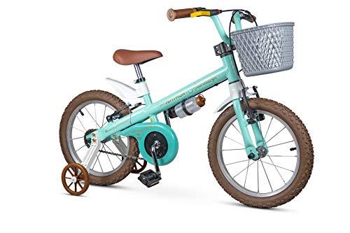 Bicicleta Infantil Aro 16 Com Rodinhas e Cestinha Menina Antonella - Nathor