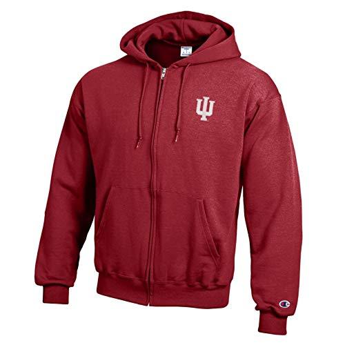 Champion NCAA Indiana Hoosiers Eco Powerblend Full Zip, X-Large, Cardinal