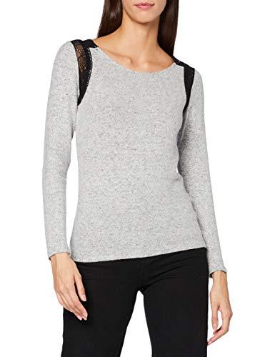 Naf Naf O- Ariane Ml Camiseta, Gris Chine 459, L para Mujer