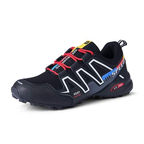 Bergschuhe Herren Trekkingschuhe Trail Running Atmungsaktiv Wandern Rutschfeste Schuhe Kletterstiefel Speedcross 3, Schwarz - Speed3 Cpblack 43 - Größe: 43 EU