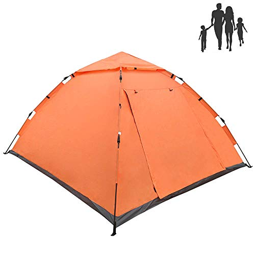 LETHMIK Pop Up Tent   Tents for Camping 2 3 4 Person - 30 Seconds Easy Up Camping Tent - Waterproof, Lightweight Instant Tent for Outdoor Hiking - Includes Carry Bag