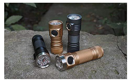 selected-lights EMISAR D4V2 XP-L HI V3 1A, 6500K HIGH Power Taschenlampe schwarz