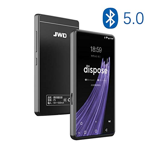 Wi-Fi Reproductor de MP3 con bidireccional Bluetooth 5.0, 4 Pulgadas de Pantalla táctil de 8 GB sin pérdidas MP4, Soporte APPs, Audible Libros, Spotify, Radio FM, hasta 128 GB,8g+128g SD Card