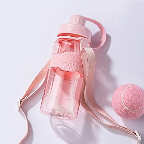 \t Botellas De Agua, 1l 2l 3l PláStico Botella De Agua Deportiva con Paja Taza De Agua PortáTil para Desechos De Gran Capacidad, DiseñO A Prueba De Fugas para Adolescentes, Adultos