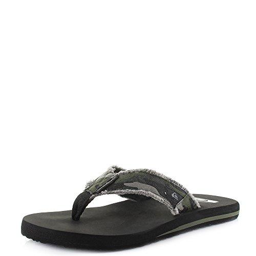 Quiksilver Monkey Abyss, Zapatos de Playa y Piscina Hombre, Verde Green Brown Black Xgck, 44 EU