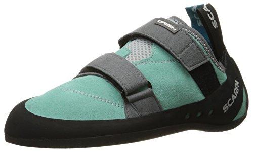 SCARPA Women's Origin WMN Climbing Shoe, Green Blue/Smoke, 4.5-5