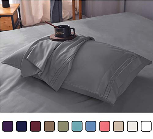 Ultra Soft Luxury Bamboo Sheet Set – Wrinkle Free, Deep Pocket, Machine Washable, Hypoallergenic, Fade Resistant Bedding Set - 4 Piece Set (Queen,...
