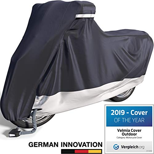 Velmia Motorcycle Cover Waterproof Outdoor amp Indoor Medium Heavy Duty Premium Bike Cover Moped Cover for Harley Davidson  Scooter Cover HeatResistant ScratchFree amp Breathable for Ideal Storage