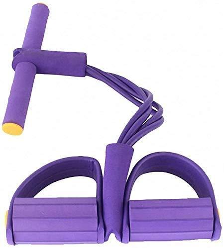 BILLION DUO Multi-Function Tension Rope, (Lila)Bodybuilding Expander Elastischen Widerstand Band Yoga SportgeräTe Taille Arm Beintrainer Tragbare Home Gym Gerät Für Fitness Abnehmen Training
