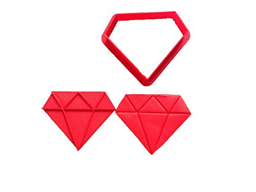 Diamond Cookie Cutter and Stamp (4 inches)