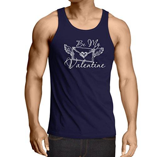 """lepni.me Camisetas de Tirantes para Hombre """"Mi Novia de San Valentín - Comillas sobre el Amor"""" - """"Mi Amor"""" Regalos (XX-Large Azul Multicolor)"""