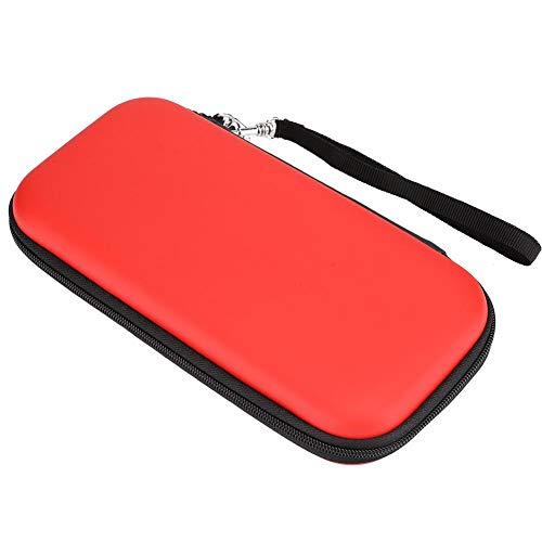 Socobeta Bolsa de Almacenamiento portátil a Prueba de Agua Funda Protectora Conveniencia Aspecto de Moda para la Consola de Juegos Switch Lite(Red)