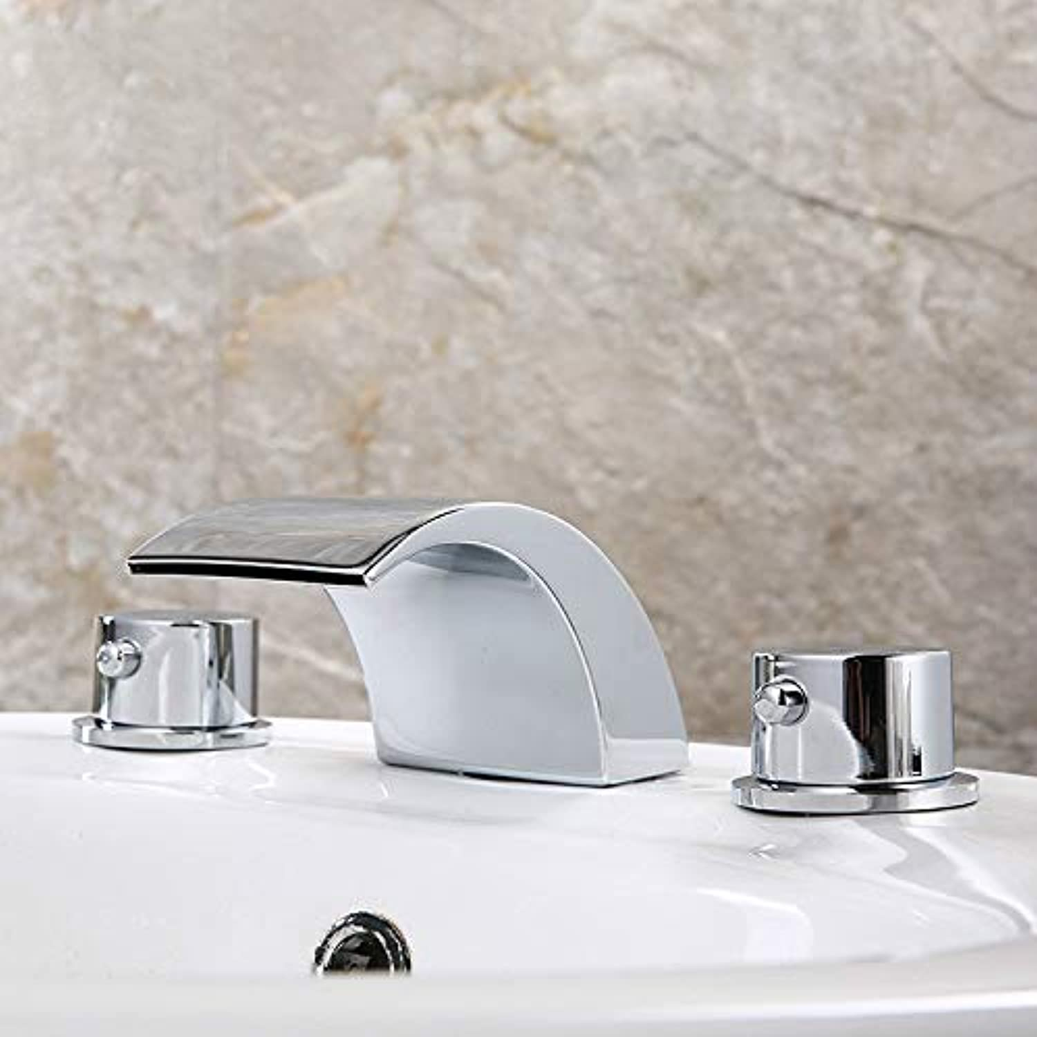 Bathroom Basin Faucet hot and Cold Water Mixing Faucet Waterfall Faucet