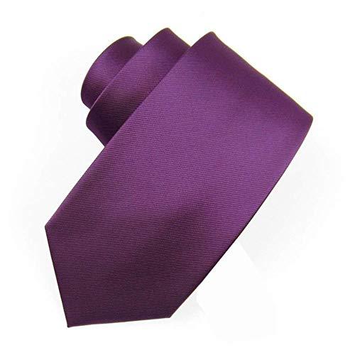 HXF- Formale Affari 8CM Matrimonio Vino Rosso Rosso Oro Rosa Blu Black Tie Uomo Legame degli Uomini Signore (Color : B)