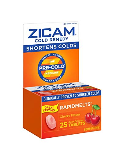 Zicam Cold Remedy Rapidmelts, Cherry Flavor, 25 Count (Pack of 1)