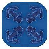 Tovolo Novelty Anchor Ice Cube Mold Trays, Flexible Silicone, Dishwasher Safe
