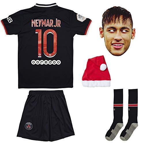 AMD SPORTS Paris Home/Away 20/21 Kinder Trikot Neymar / Kids Jersey Mbappe mit Short und Socken, für Kinder (Neymar Home, 28/164/11-12 Jahre)