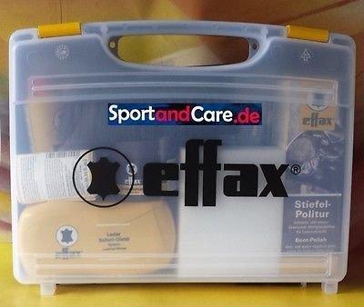 Effax Leder Pflege Koffer mit Stiefelpolitur, Ledergrip, Balsam, Ledercombi by Effol