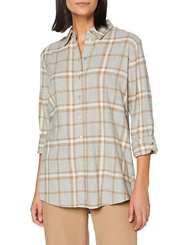 OPUS Damen Fabina Classic Check Hemd, Macadamia, 44
