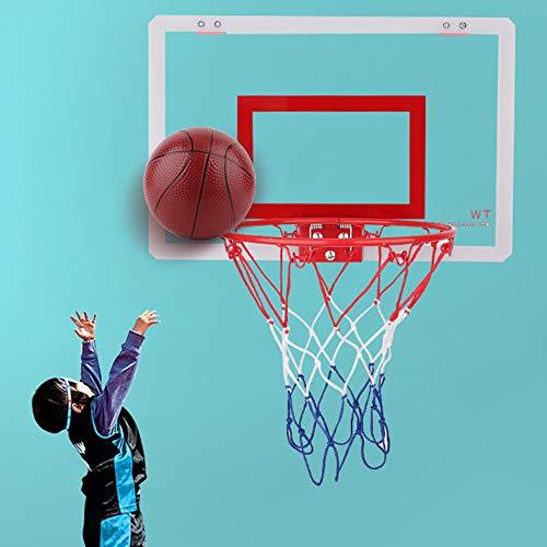Lixada Basketballkorb-Set Hängender Basketball Mini Hoop Set fürs Zimmer Bruchsicheres Wandbehang Indoor Kinder Spielzeug mit Hoop und Basketball