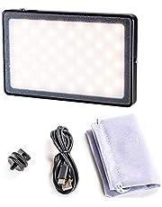 Nicama NC-L5 LED Mini Luz Recargable en cámara luz de vídeo para videocámara Sony Panasonic, Canon, Nikon, DSLR, videocámara y fotografía Macro