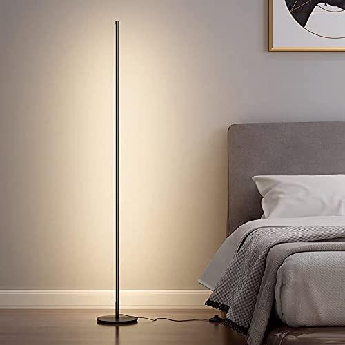 2021年中感謝セール IpowerBingo 間接照明おしゃれ LED フロアライト 3色 調光 調色 無段階調節 3000K-6000K フロアランプ フロアスタンド フロアスタンド LED リモコン付 かんせつ照明 おしゃれ スタンド 和風 北欧 和室 床置き 玄関 寝室 居間用 高さ150CM