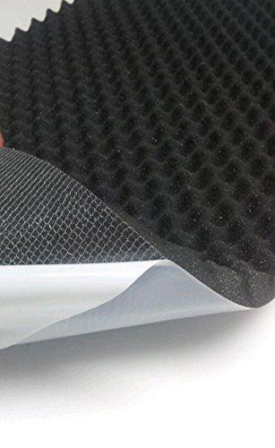 Akustikschaumstoff, Noppenschaumstoff, Selbstklebend Profilplatte, Dämmung 100cm x 50cm x (variant)) (100 x 50 x 2, Anth/ Schwarz)