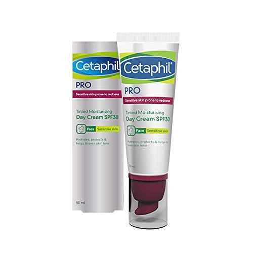 Cetaphil Pro Sensitive getönte Feuchtigkeitspflege LSF30 | 50 ml | bei Rötungen oder zu Rosacea neigender Haut | Dermatologisch getestet, 50 ml