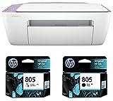 Product 1: Printer type: Inkjet; Functionality : Multi- function; Printer output :Color Product 1: Connectivity : High-speed USB 2.0 Connectivity Product 1: Compatible Ink Cartridge: HP 805 Black Original Ink Cartridge,HP 805 Tri-Colour Original Ink ...
