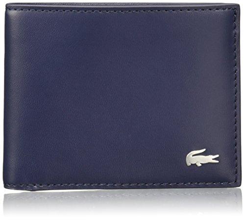 Lacoste Herren Fitgerald Billfold Leather Wallet - Peacoat