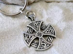 Trilogy Jewelry Pewter Solar Cross Celtic Irish Druid Keychain Key Tag