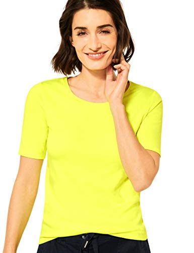 Cecil Damen Lena T-Shirt, neon Lemon, XX-Large