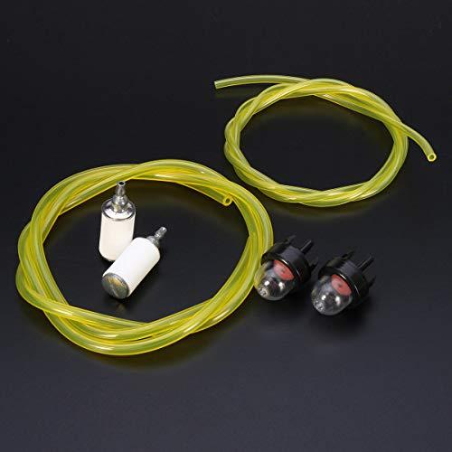 RUIXINLI Piezas de Repuesto del carburador Bombilla de imprimación de carburador y Filtro de Combustible de Combustible y Combustible de 3 pies para McCulloch Husqvarna Stihl Piezas de Repuesto