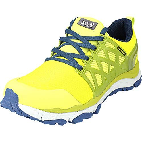 Jack Wolfskin Herren Trail Invader Shield Low M Walking-Schuh, Gelb Lime Blue 4171, 44.5 EU