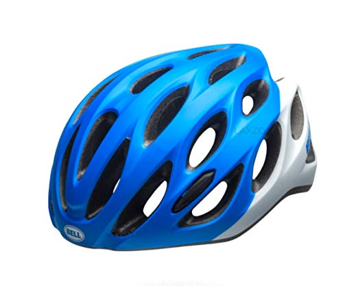 Laxzo Universal Helmet Bell Draft Road Commuter Leisure Cycling Blue/White