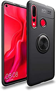 Auto Focus Case Cover for Huawei Nova 4, Liquid Case, with Slim Protection TPU, with Ring Grip, Black