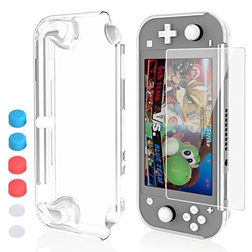HEYSTOP Funda para Nintendo Switch Lite, Carcasa Nintendo Switch Lite con Protector de Pantalla y 6 Agarres para el Pulgar, Nintendo Switch Lite Accesorios