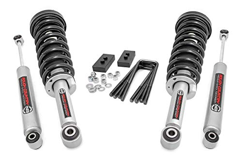 Rough Country 2' Leveling Lift Kit (fits) 2009-2013 F150 4WD | N3 Struts / N3...