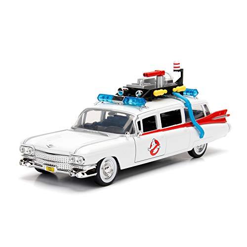 Jada 253235000 Cazafantasmas coche ECTO-1 Metal 1:24 Fahrzeug, weiß