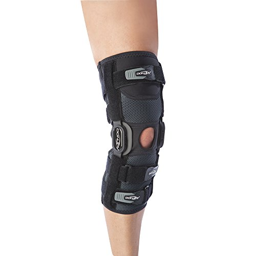 DonJoy Playmaker II Knee Support Brace Without Patella Donut: Spacer Sleeve, Large