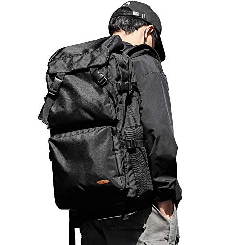Large Black Travel Luggage Backpack for Men and Women, Carry On Bag Weekender Suitcase Backpack for Men and Women, Waterproof Laptop Bookbag Backpack Bag for College School Student