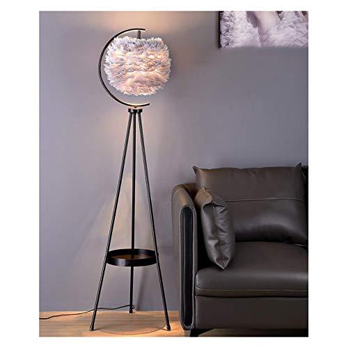 YQGOO Lámpara de pie Lámpara de pie trípode, Lámparas de pie de Metal, Lámpara de pie con una Mesa, Lámpara de pie Creative, para Sala de Estar, Offi