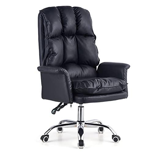 ZWHJL Elevación del hogar respaldo rotatorio sillas de oficina multifunción Creatividad plegable silla de computadora muebles sillones Gamer sillas (color negro)
