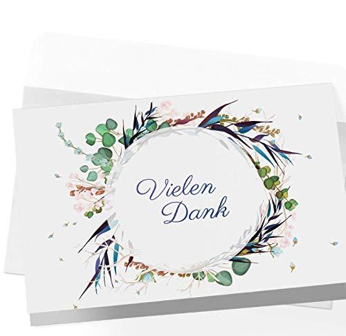 20 Dankeskarten Klappkarten mit Umschlägen, Dankeskarte, Postkarte Danke, Karte Danke, Dankeschön Karten, Danksagungskarten Hochzeit, Karte Abschied Kollege Kollegin, Vielen Dank Karten Danke