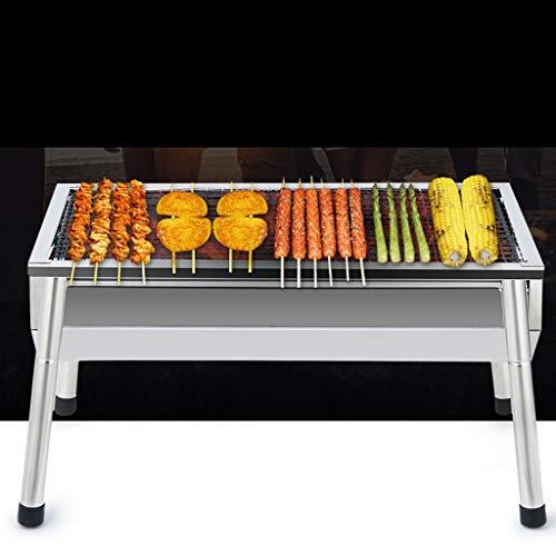 41nm0BI7DFL - WZHZJ Silber im Freien Grill Tisch, Einfacher Barbecue Faltbare Barbecue-Ofen Non Stick Pan Barbecue Outdoor Equipment