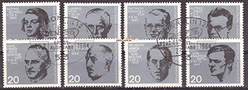 philaseum Briefmarken BRD 1964, Mi.Nr. 431-438, 20. Jahrestag des Attentats auf Adolf Hitler, Gestempelt (Mi. 12 EUR)